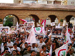 Demonstration after Bachir Gemayel Memorial